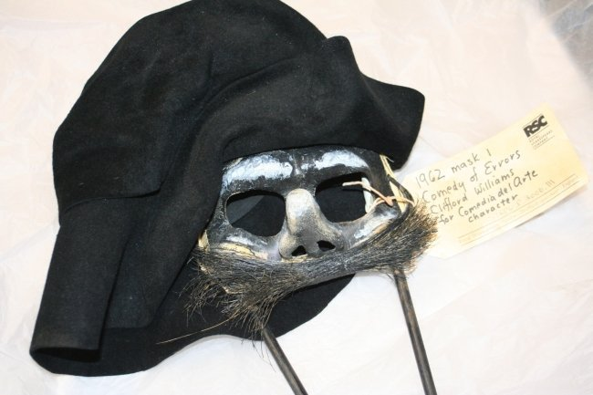 Mask worn by one of the twins in 'The Comedy of Errors' in 1962 (Image courtesy of the Royal Shakespeare Company)