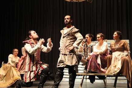 A performance of The taming of the shrew