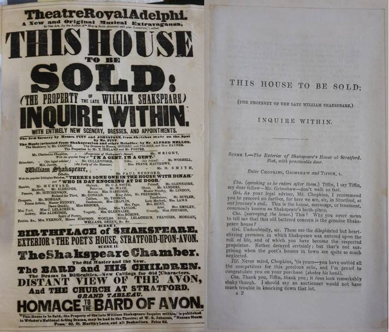 "Playbill and first page of text for ""This House to be Sold"""