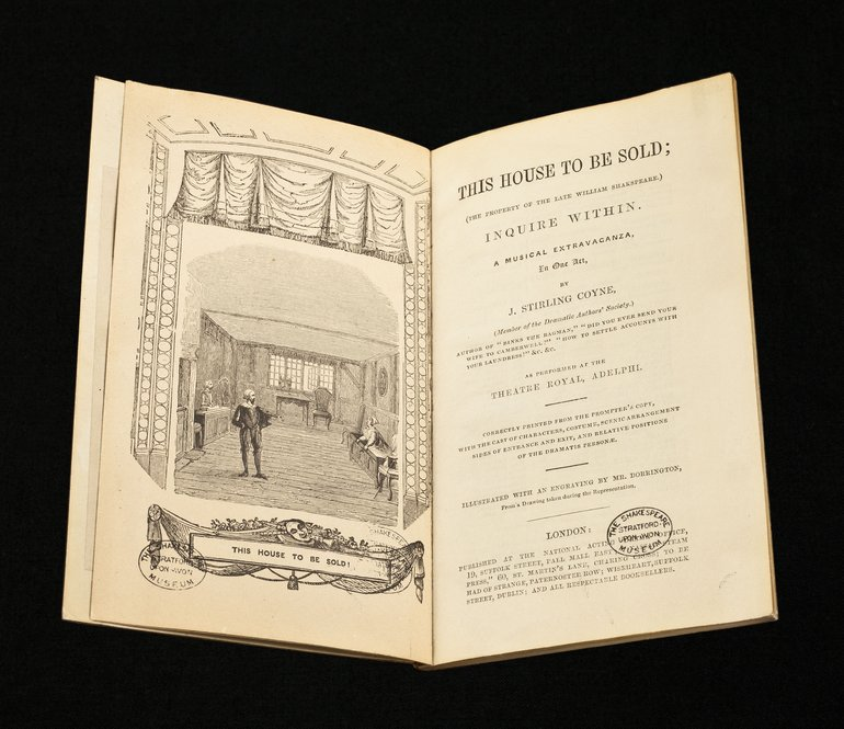 29.61/COY A script for This House to be Sold, National Acting Drama Office, 1847