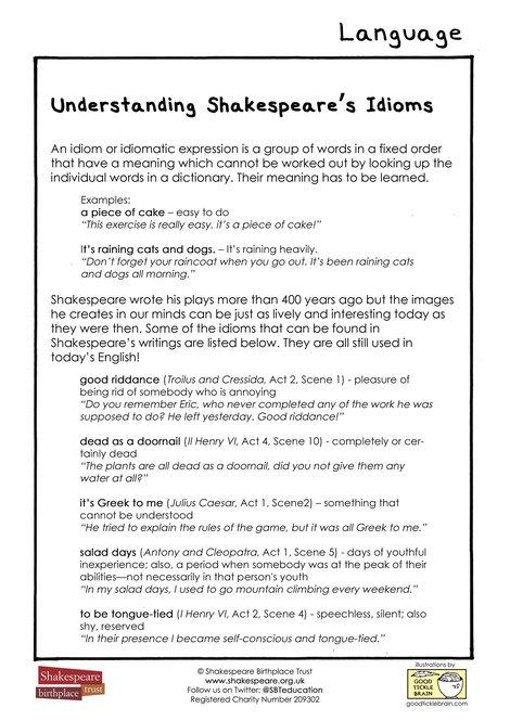 Understanding Shakespeare's Idioms