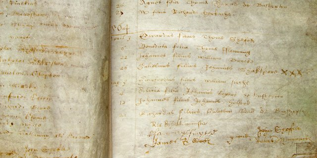 Baptismal Record for Shakespeare