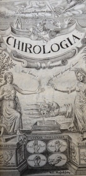 Chirologia: or The naturall language of the hand title page
