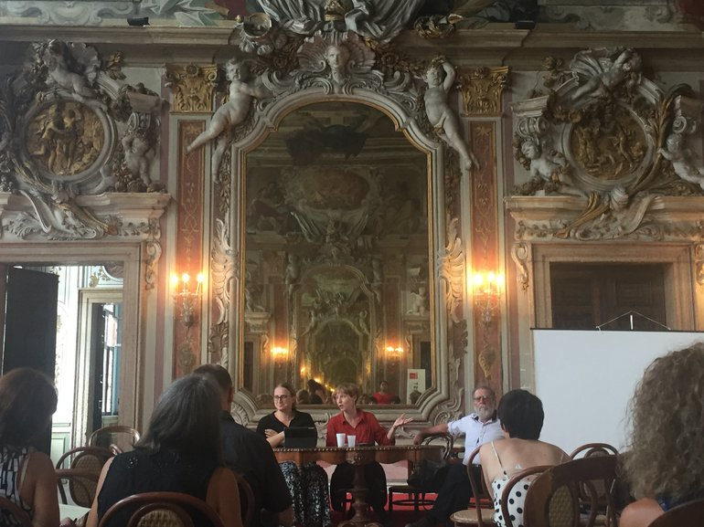panel photo, Shakespeare conference in Venice
