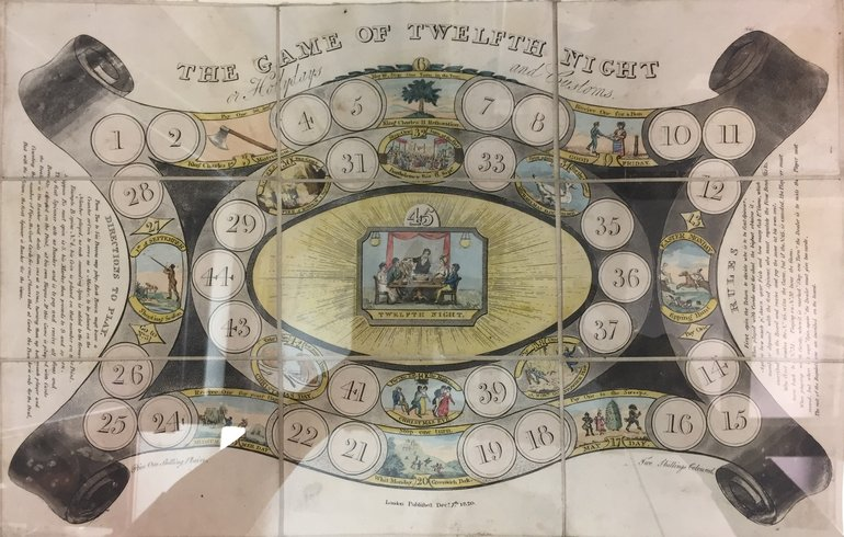 Twelfth Night Board Game, 1820