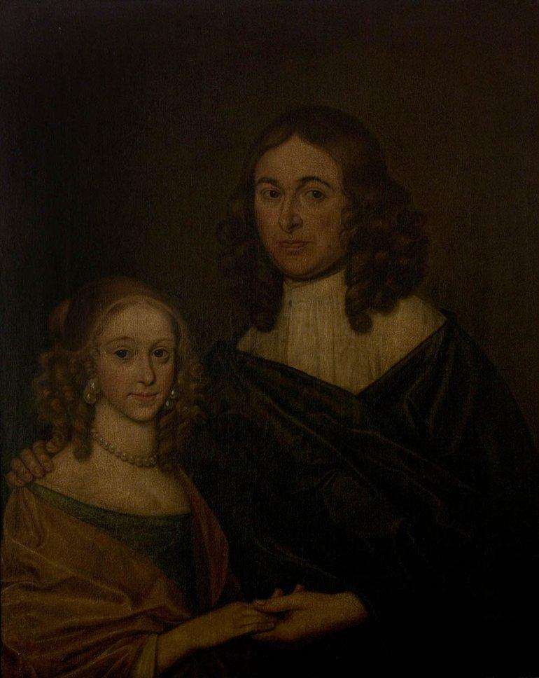 Portrait of an unknown couple--either Elizabeth or Susanna
