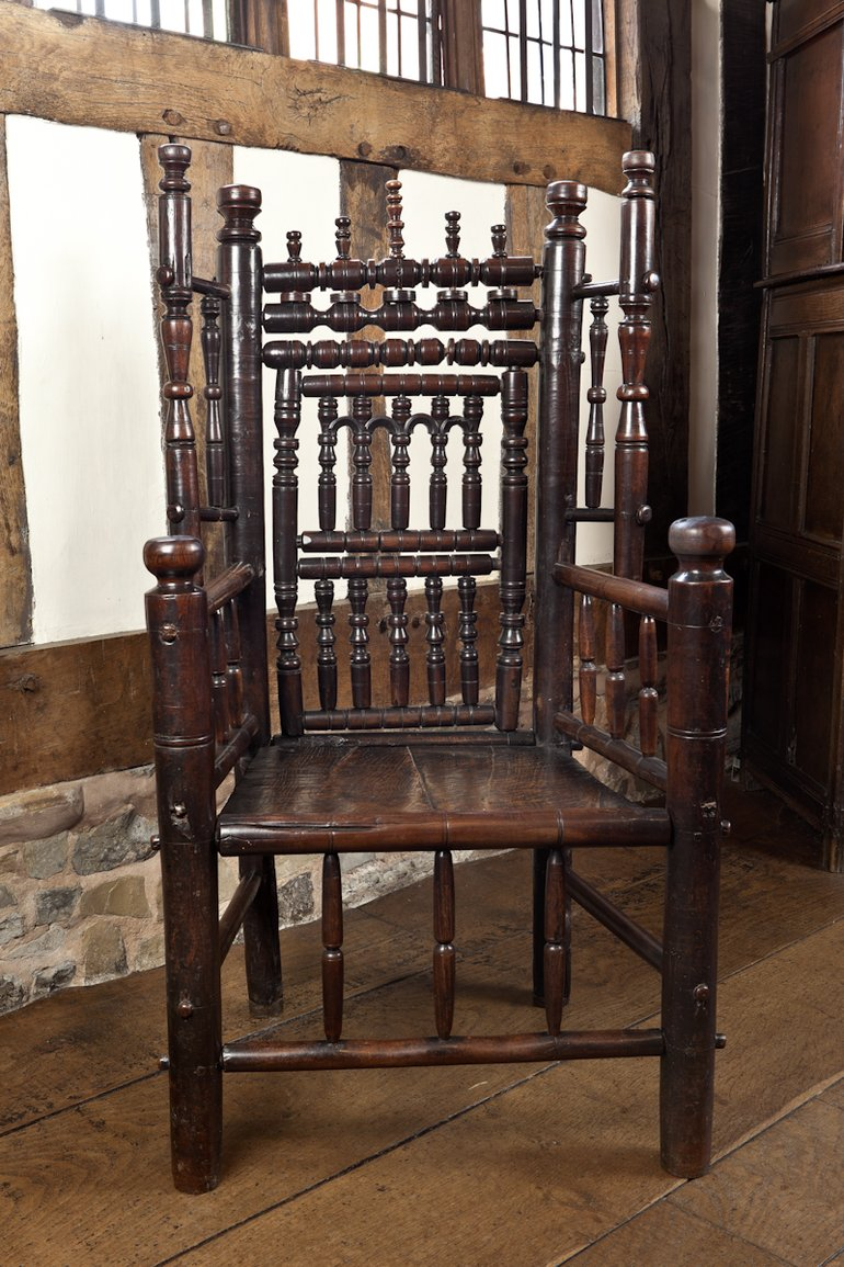 Turned wooden chair circa 1580-1630