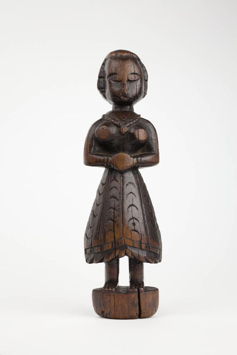 SBT 1996-43 Walnut wooden doll from the Shakespeare Birthplace Trust Collections