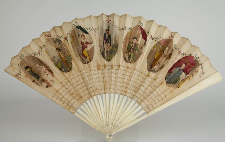 Fan with French translation of the Seven Ages of Man speech