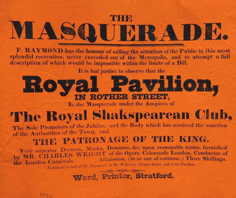 Shakespeare Jubilee poster 1830