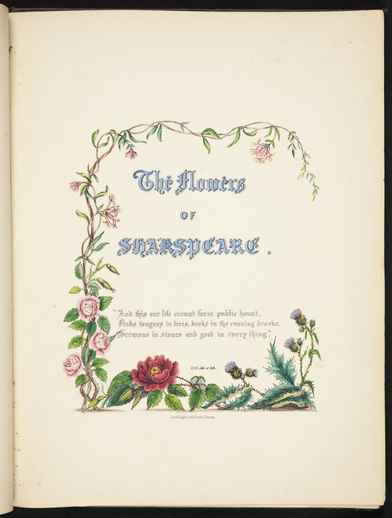 Title page Flowers of Shakespeare