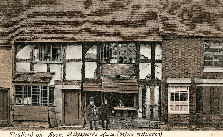 Shakespeare's Birthplace before restoration