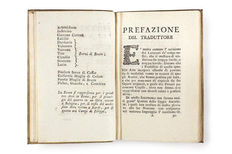 Il Giulio Cesare (1756) preface