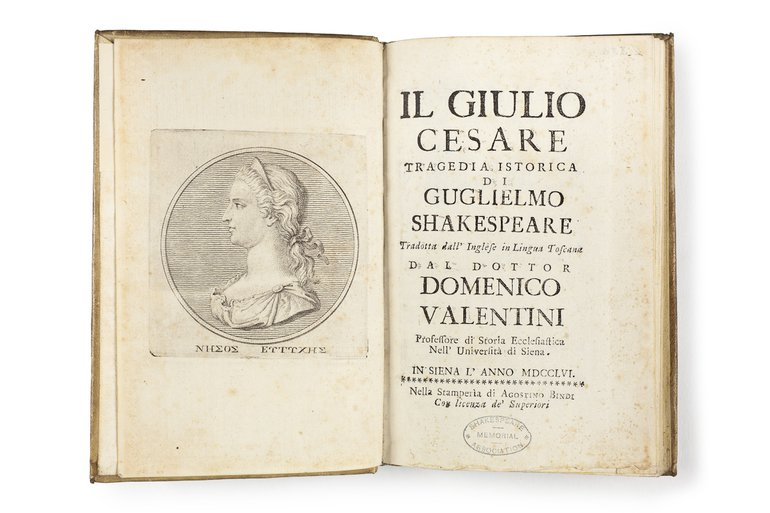 Il Giulio Cesare 1756 frontispiece