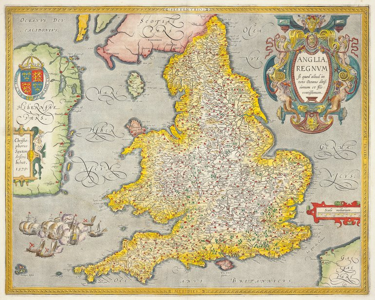 Map of England by Ortelius published 1603