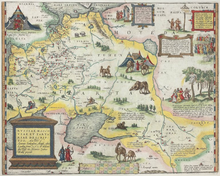 Jenkinson Map of Russia, 1595 (Ortelius and Hogenberg)