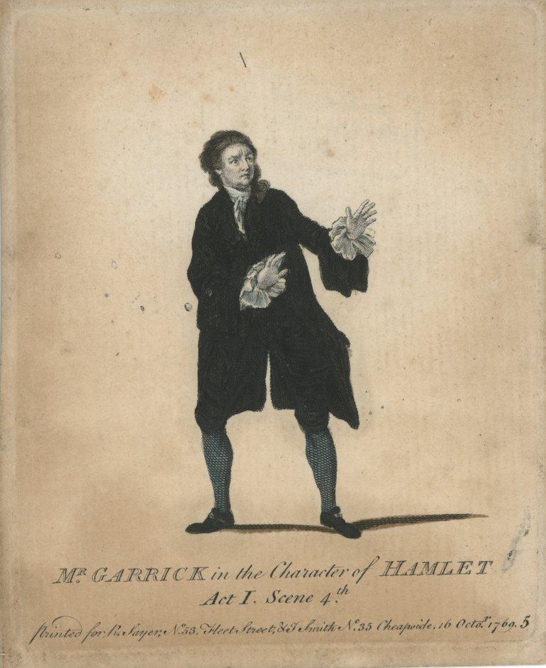 David Garrick as Hamlet