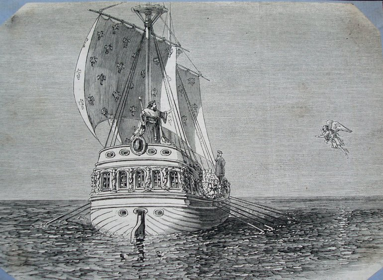 The final scene from Charles Kean's production of The Tempest