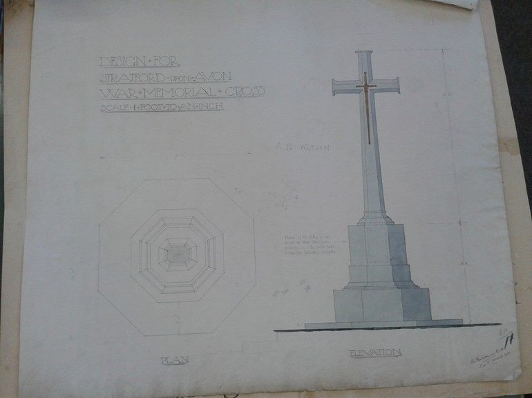 Design plan of the War Memorial from the Borough Collection