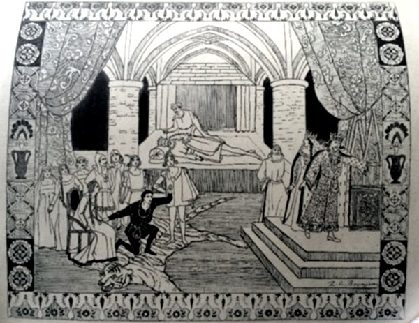 Illustration for Hamlet (1921) by Z.C.Boyajian